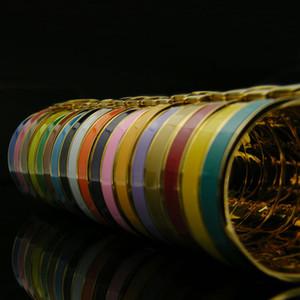 316L titanio acciaio smaltato Bracciale da sposa Oro / R H lettera polsino di 12 millimetri largo del polsino