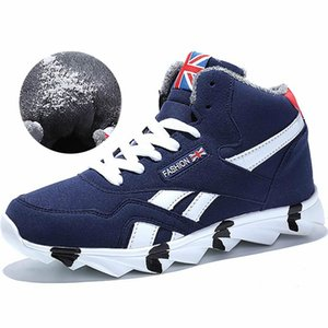 Warm Running Shoes For Men Sneakers Winter Men's Sports Shoes For Male Sapatenis Fur Sport Blue Tennis Trainer A149