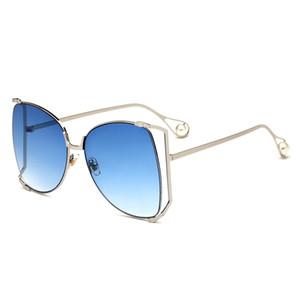 UV400 Lunettes de soleil pour dames de mode lunettes de soleil 2018 nouvelles lunettes de tendance de perles européennes et américaines