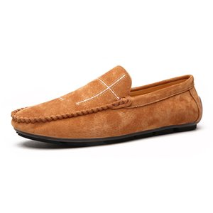 Large Size Herren Leder Freizeitschuhe Mokassins Loafers britischen Art-Männer Loafers Treiber Mokassins 38-48