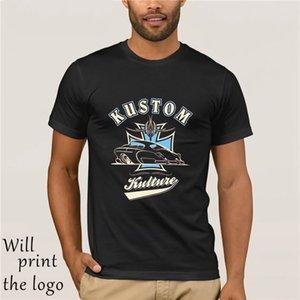 Kustom Kulture Lead Sled Hot Rod Greaser Tattoo Футболка Tee Retrobrand Летний стиль Хлопок Мужчины Уникальный T-Shirt футболки