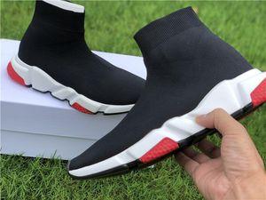 Black Friday Sale Top Qualität Schuhe Speed Trainer Oreo Triple Black Green Fashion Socken Stiefel Männer Frauen Turnschuhe mit Kasten Staubbeutel