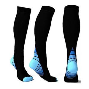 Kompressions-Socken für Männer Frauen (20-30 mm Hg) Beste Strümpfe Rennen Fit atmungsaktiv Lange Socken für Männer Reisen Ausdauer