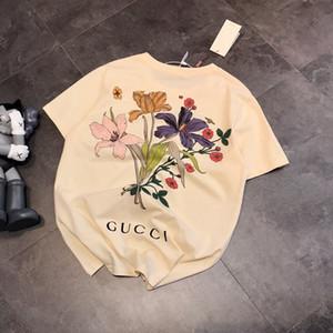 flor Homens Mulheres Designer Marca do verão T-shirt Luxo Moda Casual Top Marca Tees Hip Hop Mens Streetwear 20031803L