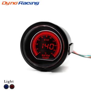 2inch 52 millimetri auto EVO Acqua LCD calibro della temperatura Red / Blue Water Temprature Gauge con il sensore di 40-140 gradi Celsius Meter Auto