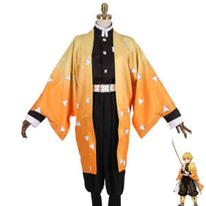 Demon Slayer Kimetsu no Yaiba Zenitsu Agatsuma Cosplay Costume