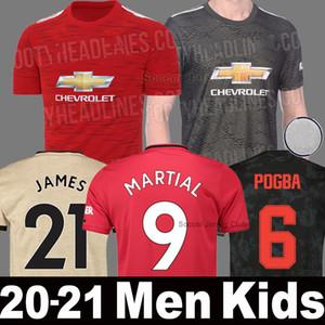 2020 2021 Manchester United Fußball Trikot 19 20 21 MAGUIRE POGBA LINGARD Man UTD MARTIAL RASHFORD JAMES WAN BISSAKA Männer Frauen Kinder Set Uniform Fußball Trikots Shirt