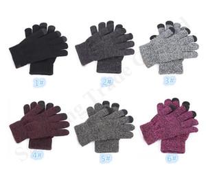 C трикотажные дизайн перчатки мужчина женщина Спорт на открытом воздухе Велоспорт перчатки пять пальцев для iphone XS Макс сенсорный экран перчатки зимние теплые варежки A11601
