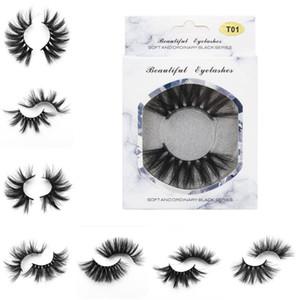 25mm Faux Cils Bande Épaisse 25mm 3D Vison Cils Extra Longue Cils De Vison Maquillage Dramatique Longs Cils De Vison