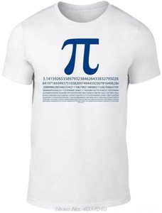 Mens Men's Tees & Polos Men's Clothing Pi Numbers TShirt Funny T Shirt Mathematics Maths Science Joke Fashion Brand Fashion Tee Tshirt haraj
