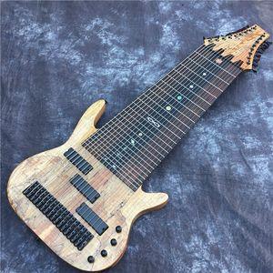 Factory Custom 17 String Electric Bass Guitar, Rosewood Fingerboard, Fretless Inlay, Custom Offer