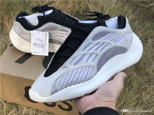 New Kanye West 700 V3 3M Cinzento Preto brilham no escuro tênis de basquete Moda Athoetic Sports Correndo Sneakers