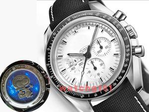 relojes de pulsera nuevos hombres calientes del reloj de Bond 007 Apllo 13 astilla Snoopy Moonwatch para hombre del cronógrafo de velocidad VK movimiento de cuarzo de acero Tela Relojes