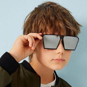 2020 Увеличенные Square Детские солнцезащитные Девочки Детские Мальчики Фестивальные Солнцезащитные очки UV400 очки Дети Мужчина для