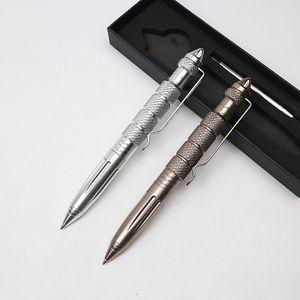 Penna a sfera di alta qualità multifunzionale 0,7 millimetri Inchiostro nero in lega di alluminio Rotazione Strumento Broken Glass Sfera-penna