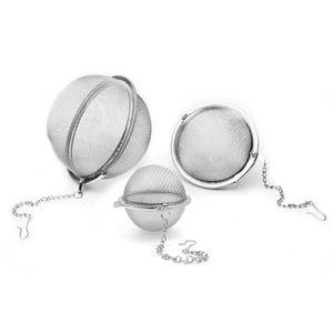 Stainless Steel Mesh Tea Ball 5CM 7CM 9CM Infuser Strainers Sphere Shape Tea Strainer Filters Interval Diffuser for Tea CFGJ22