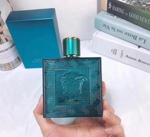 El perfume clásico más nuevo de los hombres eros de Colonia EDT 100ml Botella Aromático Helecho de cristal azul de diseño especial en caja de envío gratuitos