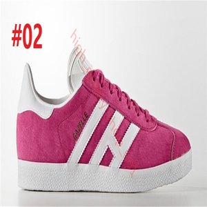 hococal Suede Gazelle Men &amp Women Low Casual Casual gazelle Trainer Chukka Black Red pink Grey Lightweight Breathable Walking Hiking Shoe