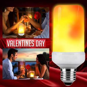 E27 E26 LED Flamme Effet Lumière clignotant Simulation décoratif flamme lumières Flamme Halloween Noël Ampoule Famille / Hôtel / Bar Party
