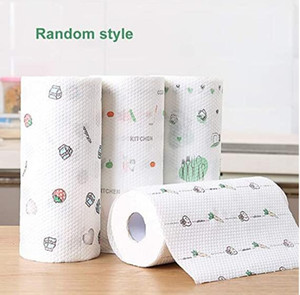 En Stock 5 rollos de papel Absorción de aceite papel de cocina absorción de agua papel de cocina desechable trapo toalla libre del envío