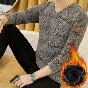 Pop2019 Knitting T A camiseta Hombre Slim Prenda Sin forro Prenda superior Hombre Desgaste Aumento Cachemira. Ampliar Código