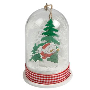 Christmas Hanging Ornament Micro Landscape With Light Christmas Tree Decorations For Home Party Decor Gift Festival Supplies