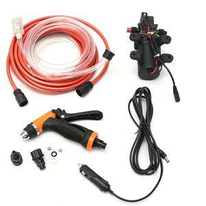 12V 휴대용 100W 160PSI 고압 자동차 전기 세탁기 자동 세척 펌프 설정 도구