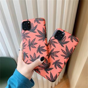 Moda Accient Folha Original bordo Phone Cases para iPhone 7 8 Plus X XS XR XsMax iphone 11 pro Max macia IMD tampa traseira