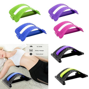 1pc Back Stretch Equipment Massager Magic Stretcher Fitness Lumbar Support Relaxation Spine Pain Relief Corrector Health Care LY191203