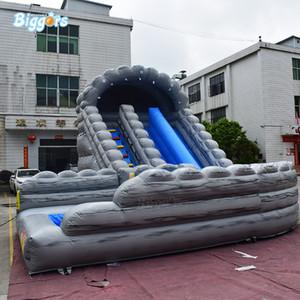 Ücretsiz Blower ile Açık Oyun PVC Ticari Şişme Slide Su Kaydırağı
