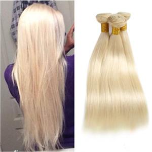 페루 버진 인간의 머리 금발 613 # 컬러 스트레이트 헤어 3 개 / 많은 두 위사 3 번들 613 # 직선 8-30inch