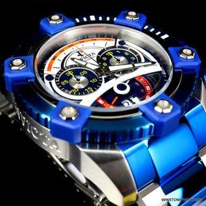 인빅타 예약 그랜드 옥탄 63mm 색상 블루 스틸 스위스 크로노 그래프 손목 시계 새로운 MVT