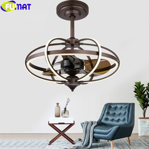 FUMAT Ceiling Fan Light Pendent Lamp Hanging Chandeliers Nordic Tricolour LED Remote Control Dinning Living Room Modern Lighting