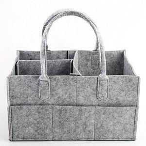 Детские пеленки сумка серый детские пеленки сумка портативный автомобиль организатор путешествия войлочная корзина новорожденная девочка мальчик подгузник сумка для хранения EEA328