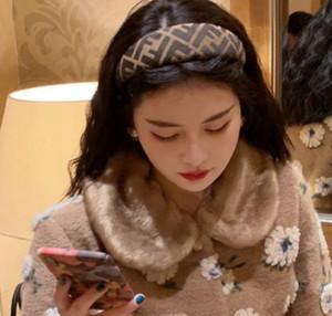 Новый стиль Классический F Letter Pattern высокого качества Hairband геометрические узоры Печать Hairband ювелирные изделия для взрослых Hairband Женщины волос