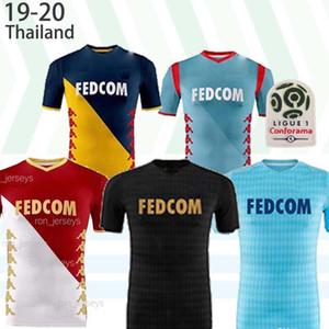 AS Monaco BEN YEDDER Football Maillots JOVETIC GOLOVIN 19 20 maillot de foot Flocage JORGE Football Shirt 2019 2020 Thaïlande Top qualité