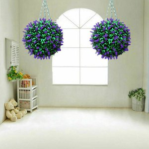 Hanging Topiary Ball Lavender Artificial Garden Flower Plant Decoration