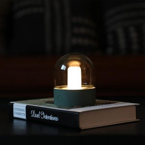 BRELONG nostalgic light bulb lamp led small table lamp USB charging desktop office lamp retro light bulb shape night light