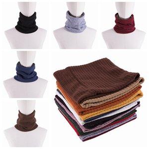 Sciarpa invernale moda 13 colori Sciarpe collo di lana ispessita Sciarpa collo Sciarpa di cotone unisex doppio strato più velluto sciarpa lavorata a maglia ZZA973