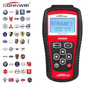 apoio OBD2 Scanner KW808 Automotive ferramenta de diagnóstico OBD 2 Auto Motor Scanner Leitor de Código CAN J1850