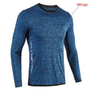 NOUVEAU 2019 automne hiver neige camouflage GYM Sport Fitness manches longues imprimé rapidement sécher football t-shirts de football
