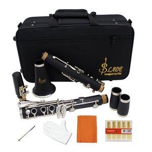 17 Key Bb Flat Soprano Clarinet nickelage exquis avec Gants chiffon de nettoyage durable Instruments de musique