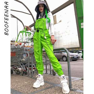 BOOFEENAA Chain Buckle Neon Green Overalls for Women Clothes 2019 Casual Jumpsuits Streetwear Fashion Summer Romper C94-AI86 T200702