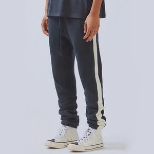 19SS Fear Of God BROUILLARD Essentials Sweatpants Vintage Color Matching Splice Pantalons Mode Hommes Femmes Sport Pantalons Outdoor Fitness HFHLKZ028