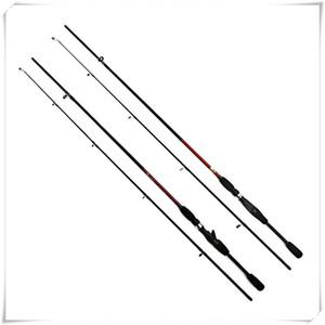 Hastes de pesca 2.1m 2 segmentos de fiação varas de pesca vara de carbono Spinning Fundição Lure Fishing Rod Alta Qualidade