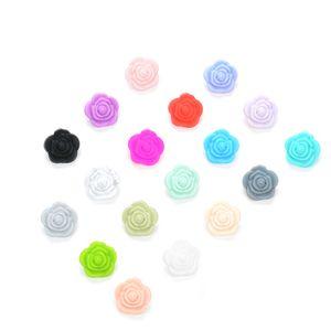 Perline in silicone Flower Baby Teethers BPA Free Rose Baby Dentizione Giocattoli Accessori per ciuccio catena BPA Free
