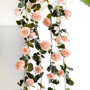 1,8 3 Renkler Yapay Çiçekler Düğün Dekorasyon Parti Ev Bahçe Dekor için Avustralya Rose Vine Rattan İpek Sahte Çiçekler