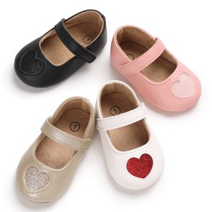 Baby Shoes Heart Shape Princess Baby Girl Shoes Cotton PU Leather Newborn First Walkers Toddler For Girls