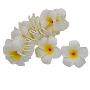 10 Teile / los Plumeria Hawaiian PE Schaum Frangipani Künstliche Blume Kopfschmuck Blumen Ei Blumen Hochzeit Dekoration Partei Liefert