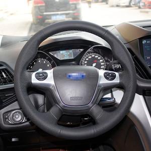 El DikişSiyah Deri Direksiyon Dikiş Ford Focus Için Wrap Kapaklı Dikiş